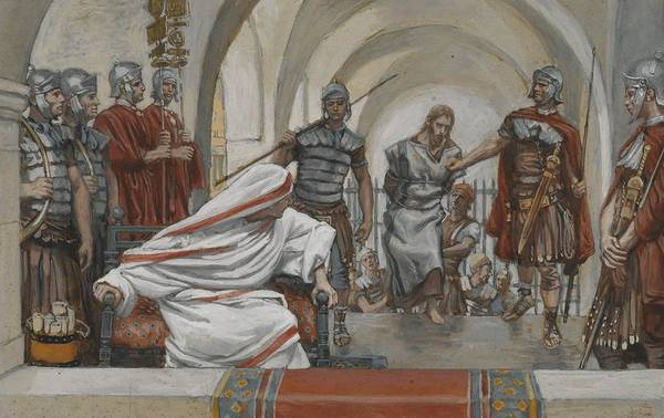 Tissot Art Print featuring the painting Jesus Led From Herod To Pilate by Tissot