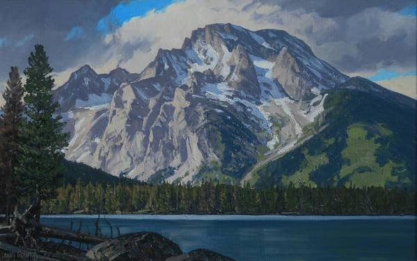 Landscape Art Print featuring the painting Leigh Lake by Lanny Grant