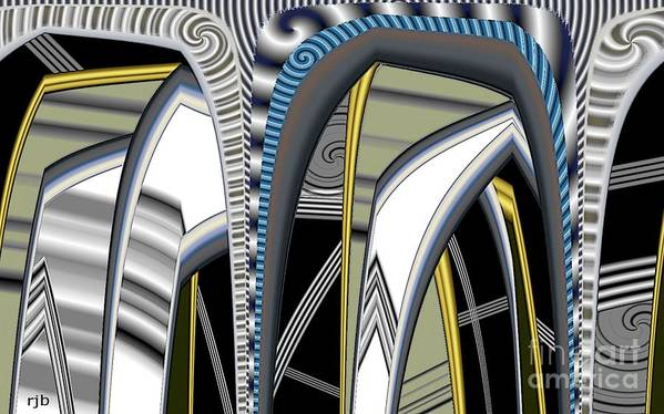 Pimped Metal Art Print featuring the digital art Metalic 1 Pimped by Ron Bissett