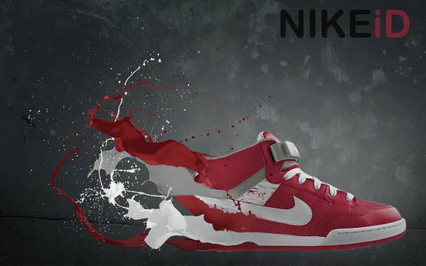 Nike Art Print featuring the digital art Nike Id by Tom Layland