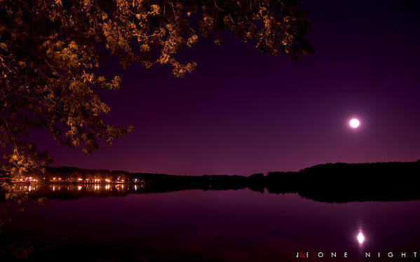 Lake Art Print featuring the photograph One Night by Jonathan Ellis Keys