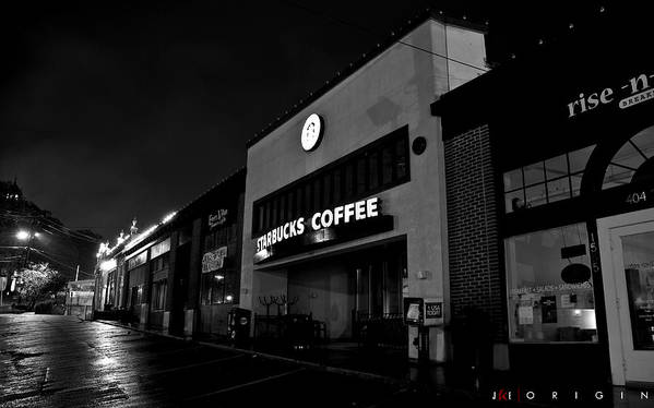 Starbucks Art Print featuring the photograph Origin by Jonathan Ellis Keys