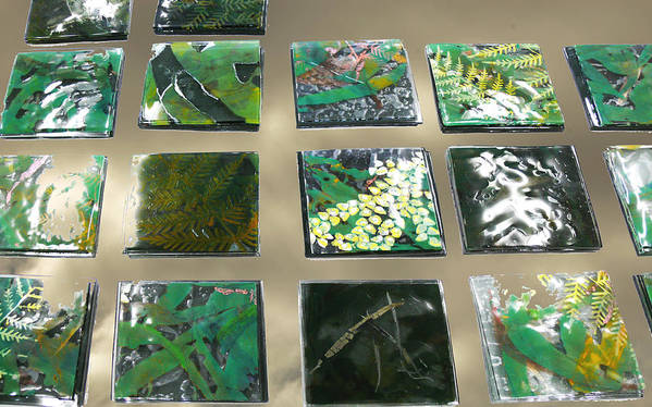 Logging Art Print featuring the mixed media Rainforest Tile Prints by Sarah King