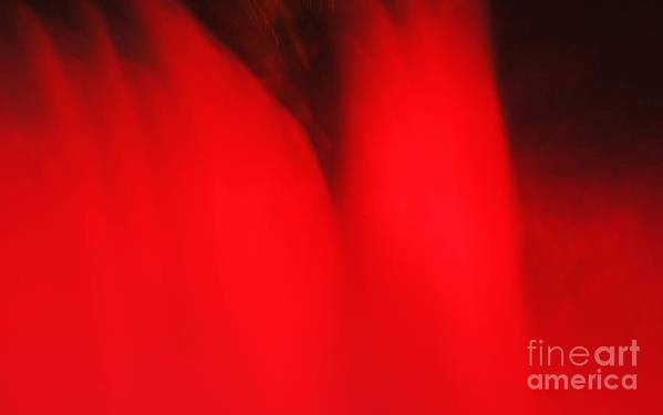 Niagara Falls Art Print featuring the photograph Red Red Red by Kathleen Struckle