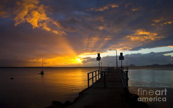 Sunrise Art Print featuring the photograph Salamander Bay Sunrise by Sheila Smart Fine Art Photography
