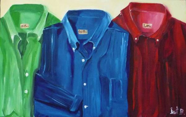 Shirts Art Print featuring the painting So Long To Ironing by Irit Bourla