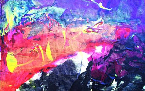 Abstract Art Print featuring the painting So Many Shapes Coming And Going by Bruce Combs - REACH BEYOND