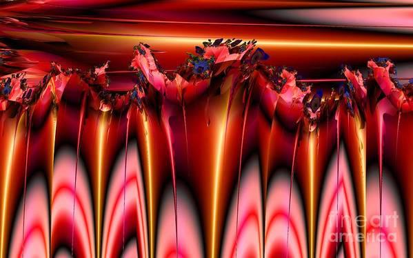 Fractal Art Print featuring the digital art Spikes by Ron Bissett