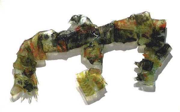 Glass Art Print featuring the sculpture The Tasmanian Landscape by Sarah King