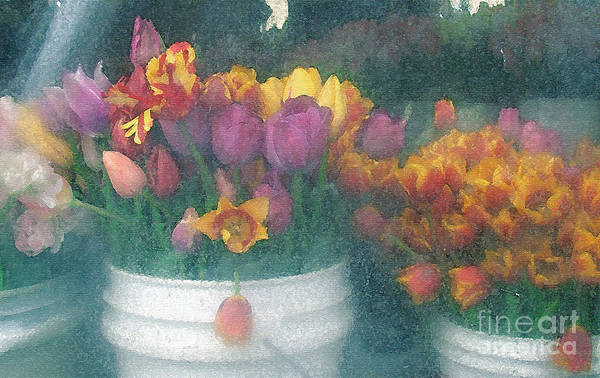 Tulips Art Print featuring the photograph Tulips by Lydia L Kramer