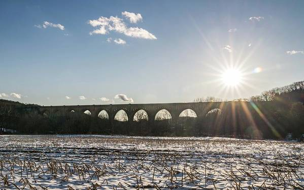 Usa Art Print featuring the photograph Tunkhannock Viaduct by Framing Places