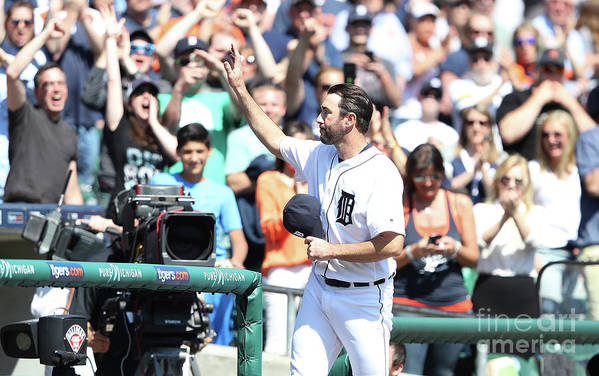 Three Quarter Length Art Print featuring the photograph Justin Verlander by Leon Halip