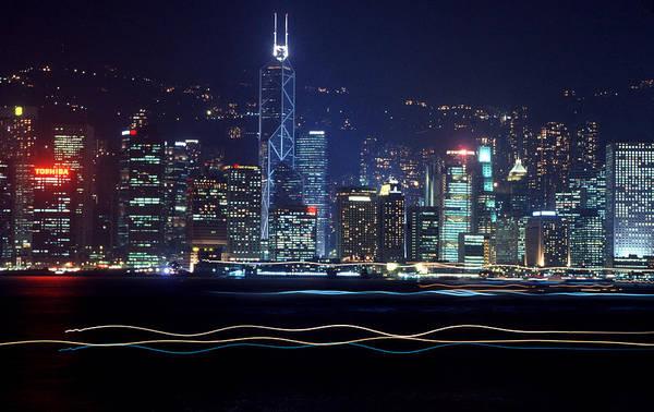 City Art Print featuring the photograph Hong Kong Harbor by Brad Rickerby