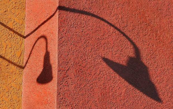 Shadow Art Print featuring the photograph Two Lamps by Dan Holm