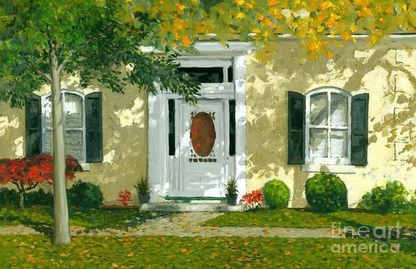 Autumn Art Print featuring the painting Autumn Sunlight by Michael Swanson