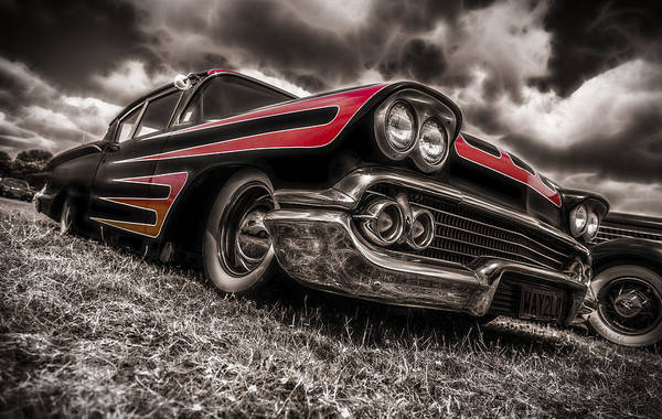 Chevrolet Biscayne Art Print featuring the photograph 1958 Chev Biscayne by motography aka Phil Clark
