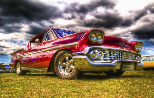 Chev Impala Art Print featuring the photograph 1958 Chevrolet Impala by Phil 'motography' Clark