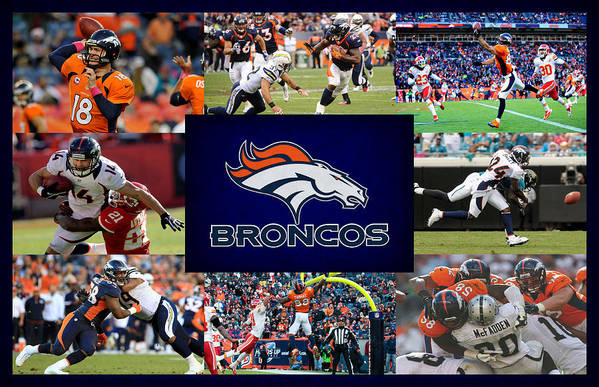 Denver Broncos Print featuring the photograph Denver Broncos by Joe Hamilton