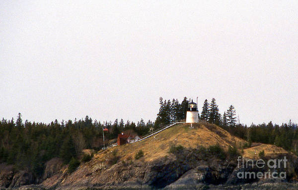 Lighthouses Art Print featuring the photograph Owls Head Lighthouse by Skip Willits