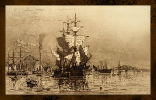 Schooner Art Print featuring the photograph Historic Seaport Schooner by John Stephens