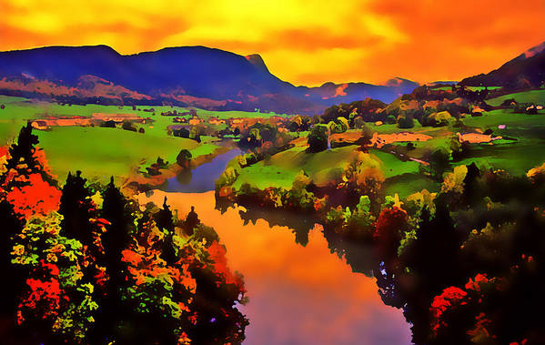 Landscape Art Print featuring the photograph Across The Valley by Stephen Anderson