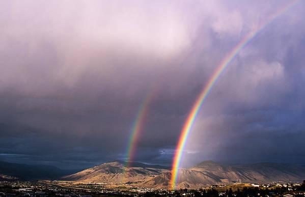 Rainbow Art Print featuring the photograph Autumn Equinox by Kathy Bassett