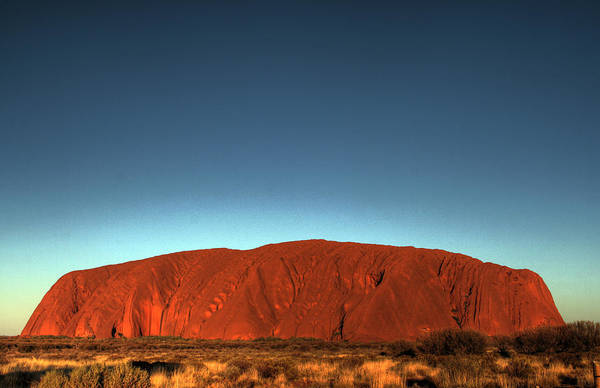 Hdr Art Print featuring the photograph Ayers Rock by John Keyser