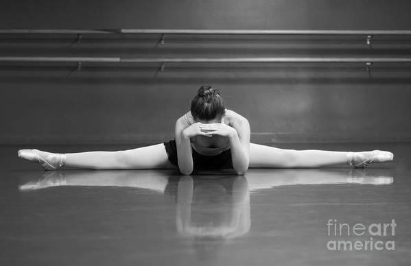 Ballerina Art Print featuring the photograph Ballerina Resting by Allegresse Photography