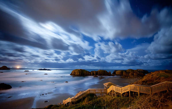Bandon Art Print featuring the photograph Bandon Nightlife by Darren White