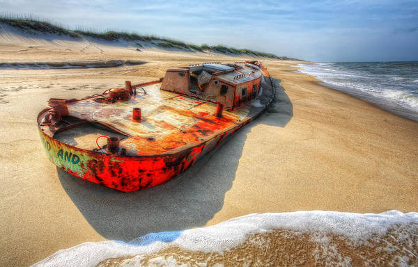 Outer Banks Art Print featuring the photograph Blood And Guts I - Outer Banks by Dan Carmichael