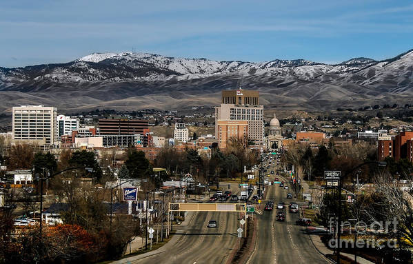 City Art Print featuring the photograph Boise Idaho by Robert Bales
