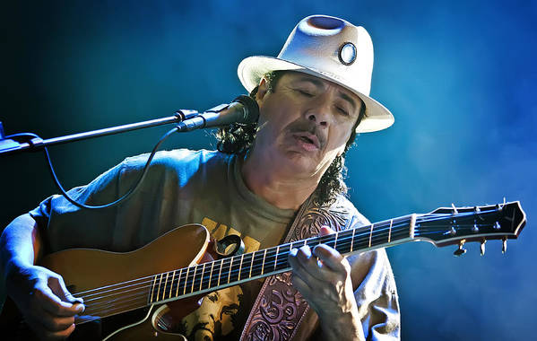 Carlos Santana Art Print featuring the photograph Carlos Santana On Guitar 3 by Jennifer Rondinelli Reilly - Fine Art Photography
