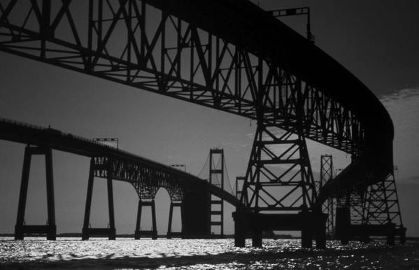 Md Art Print featuring the photograph Chesapeake Bay Bridge At Annapolis by Skip Willits