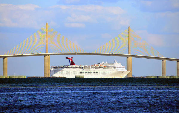 Fine Art Photography Art Print featuring the photograph Cruising Tampa Bay by David Lee Thompson