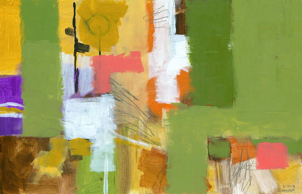 Abstract Art Print featuring the painting Dakota Street 5 by Douglas Simonson