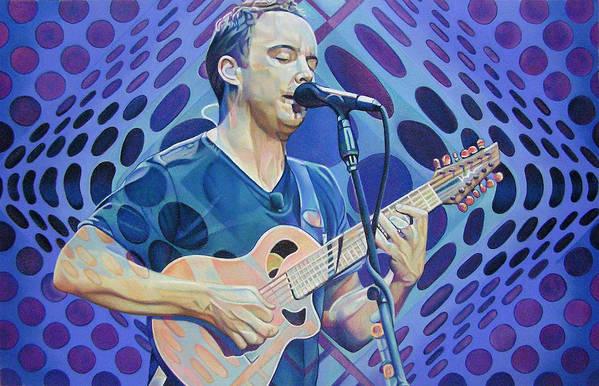 Dave Matthews Art Print featuring the drawing Dave Matthews Pop-op Series by Joshua Morton