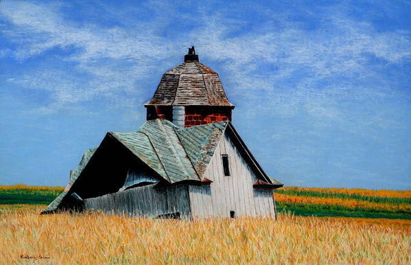 Old Barns Print featuring the painting Days Gone By by Kimberly Shinn