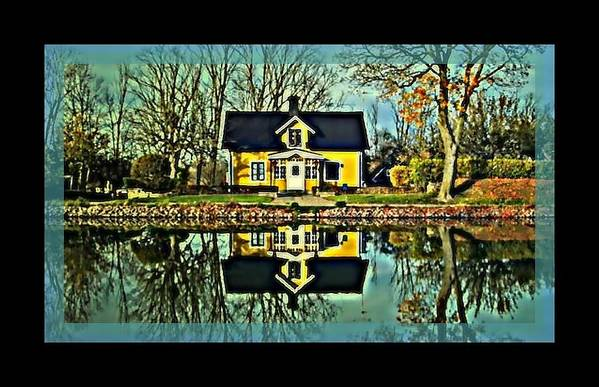 Art Print featuring the digital art Dreamy Home by Tracie Howard