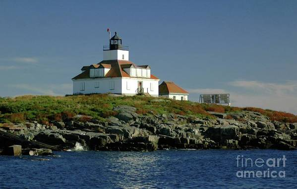 Egg Art Print featuring the photograph Egg Rock Lighthouse by Kathleen Struckle