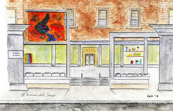 El Museo Del Barrio Art Print featuring the painting El Museo Del Barrio by AFineLyne