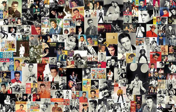 Elvis Presley Art Print featuring the digital art Elvis The King by Taylan Apukovska