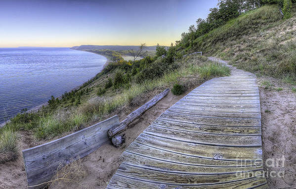 Sleeping Art Print featuring the photograph Empire Bluff In Sleeping Bear Dunes by Twenty Two North Photography