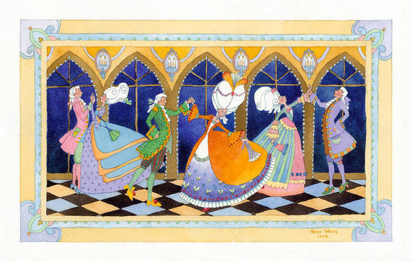 Art Print featuring the painting French Dream Dance by Heidi White