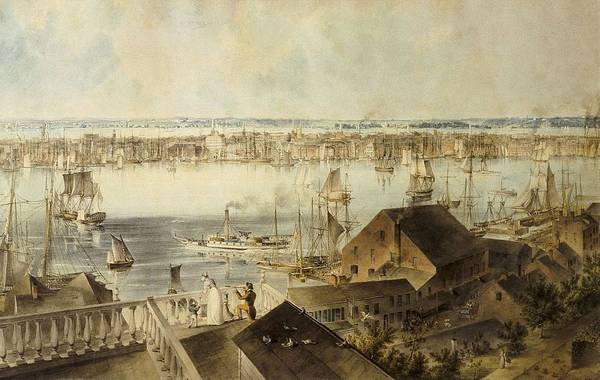 Horizontal Art Print featuring the photograph Hill, John William 1812-1879. View by Everett