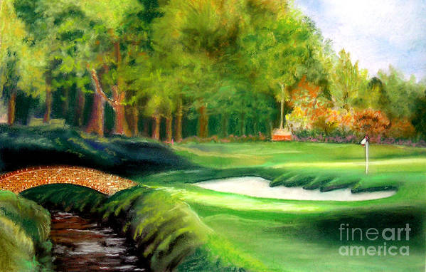 Golf Art Print featuring the pastel Hole Number10 by Lamarr Kramer