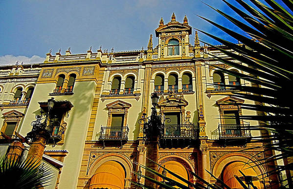 Europa Art Print featuring the photograph Hotel Alfonso Xiii - Seville by Juergen Weiss