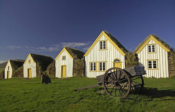 Home Art Print featuring the photograph Icelandic Turf Houses by Claudio Bacinello
