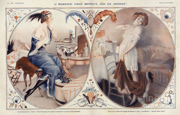 French Art Print featuring the drawing La Vie Parisienne 1922 1920s France Leo by The Advertising Archives