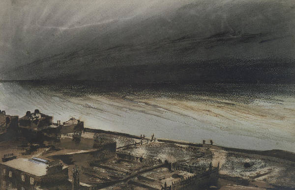Marine Art Print featuring the painting Marine Terrace In Jersey by Victor Hugo