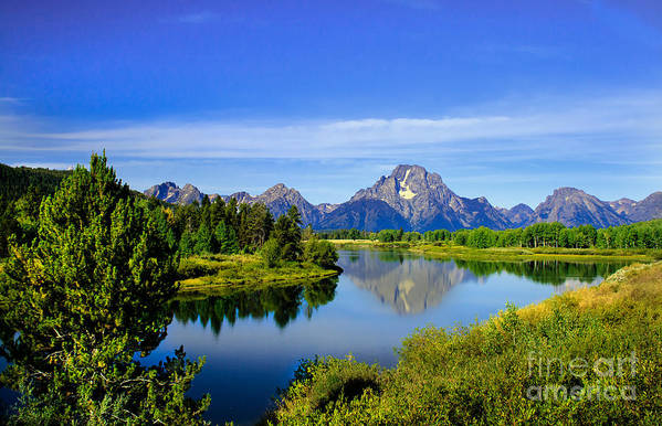 Grand Teton Art Print featuring the photograph Oxbow Bend by Robert Bales